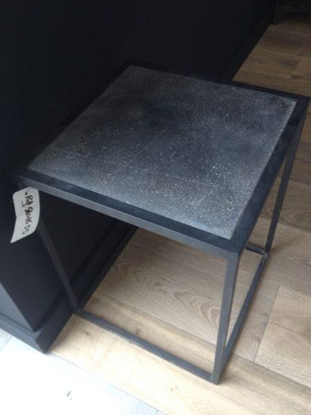 Table de Chevet en Fer Forgé Plateau Pierre