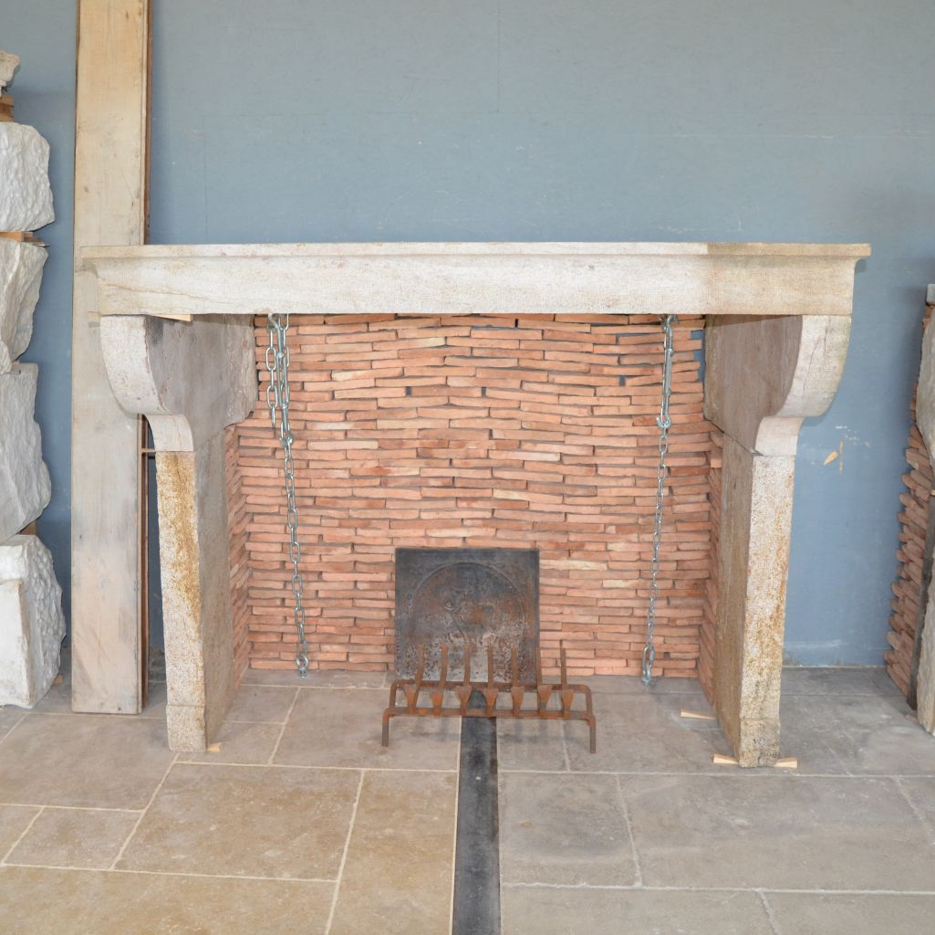 Antique French Farmhouse Fireplace