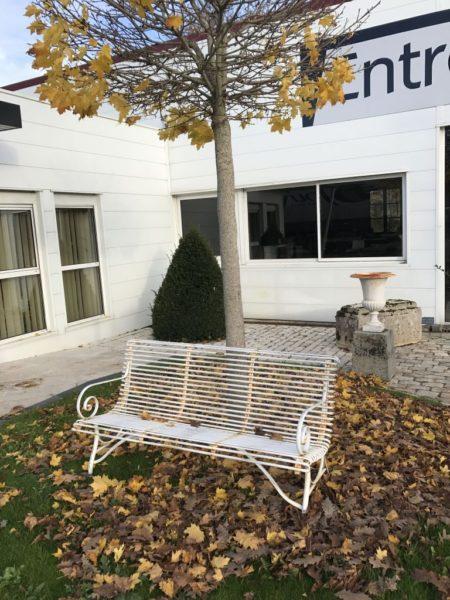 Ironwork garden bench