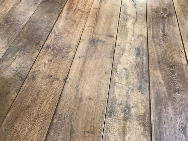 Genuine antique reclaimed French oak floorboards, centuries-old
