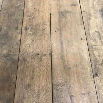 Genuine antique reclaimed French oak floorboards