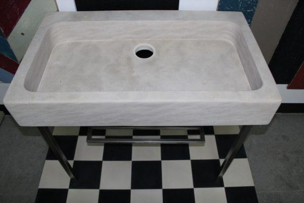 Évier en pierre calcaire beige - Réédition de pierre naturelle