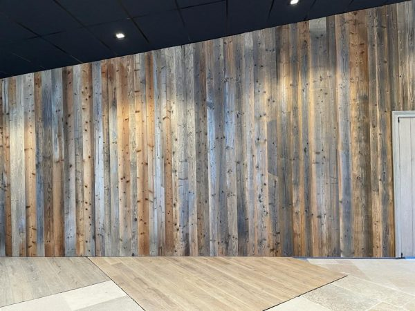Pine wall grey and brown