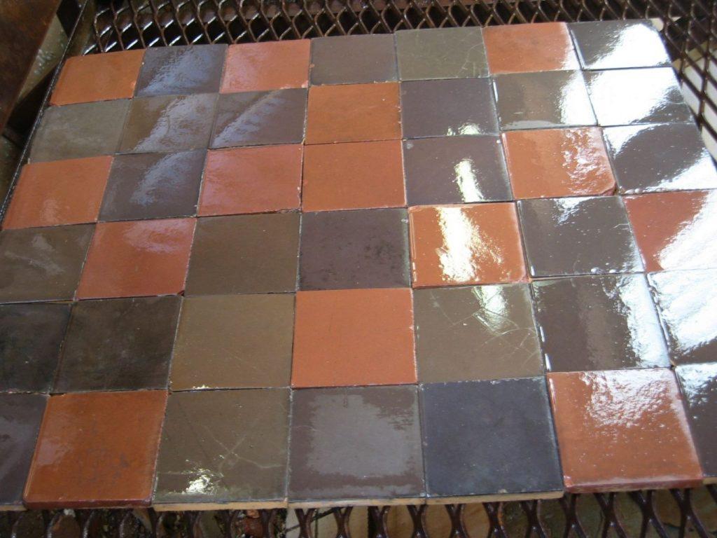 Ceramic Tiles 14 X 14 Cm Patchwork Of Subdued Wine