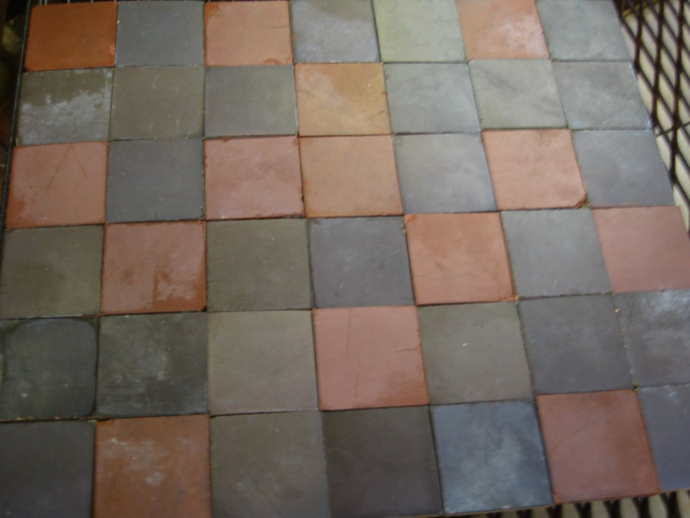 Ceramic tiles 14 x 14 cm patchwork of subdued wine inspired colours ceramic tiles job lot dailygadgetfo Image collections