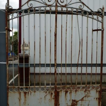 Antique french forged iron gates