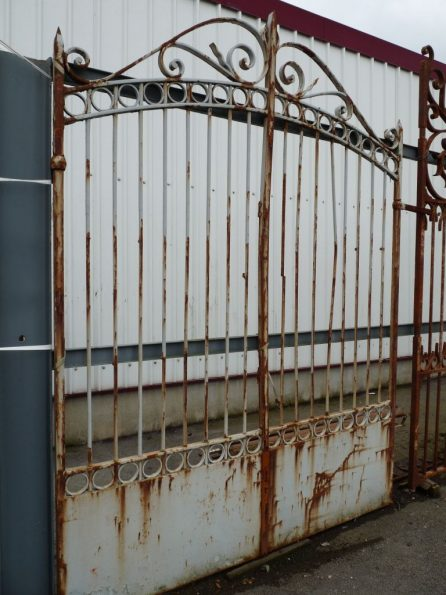 Antique french forged iron gates authentic hand