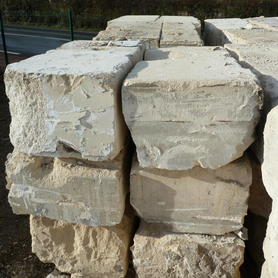 Antique Limestone Blocks From Paris Limestone Salvaged