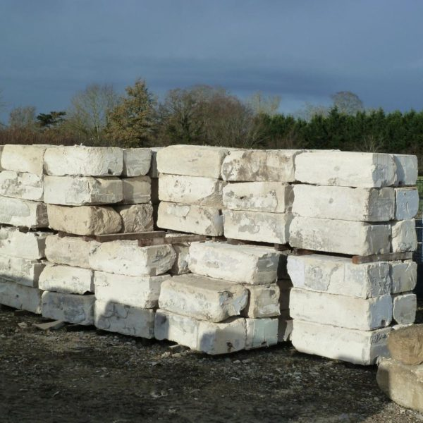 Reclaimed limestone blocks