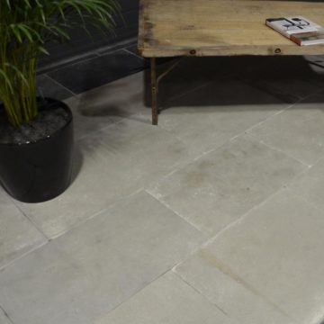 New antiqued limestone