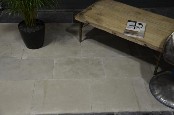 Grey limestone, replicate antiqued