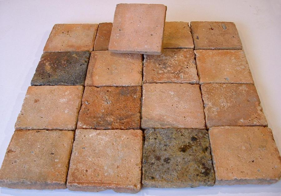 Antique reclaimed terracotta floor tiles format 5 5 x 5 for Carrelage 45x45