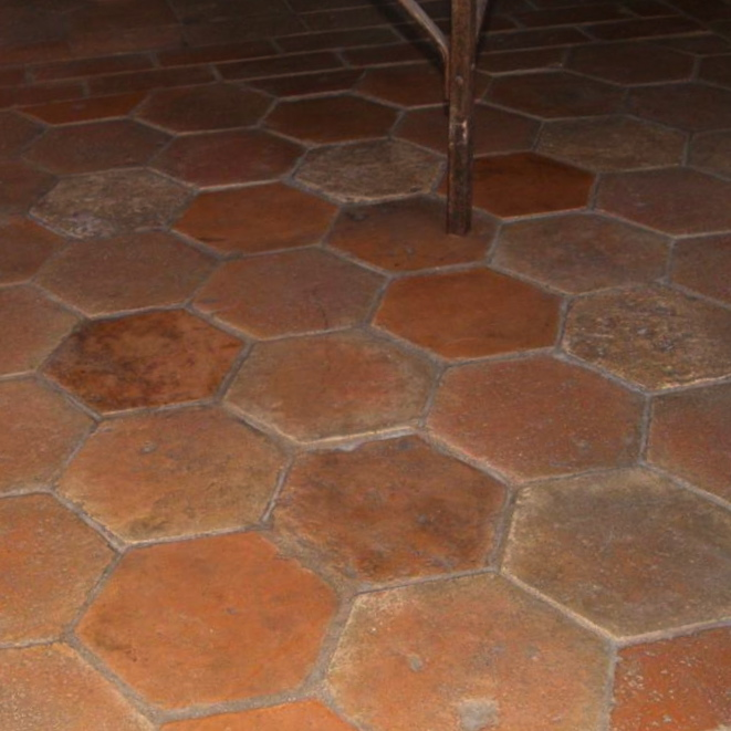 Antique Hexagonal Terracotta Permanent Stocks Available