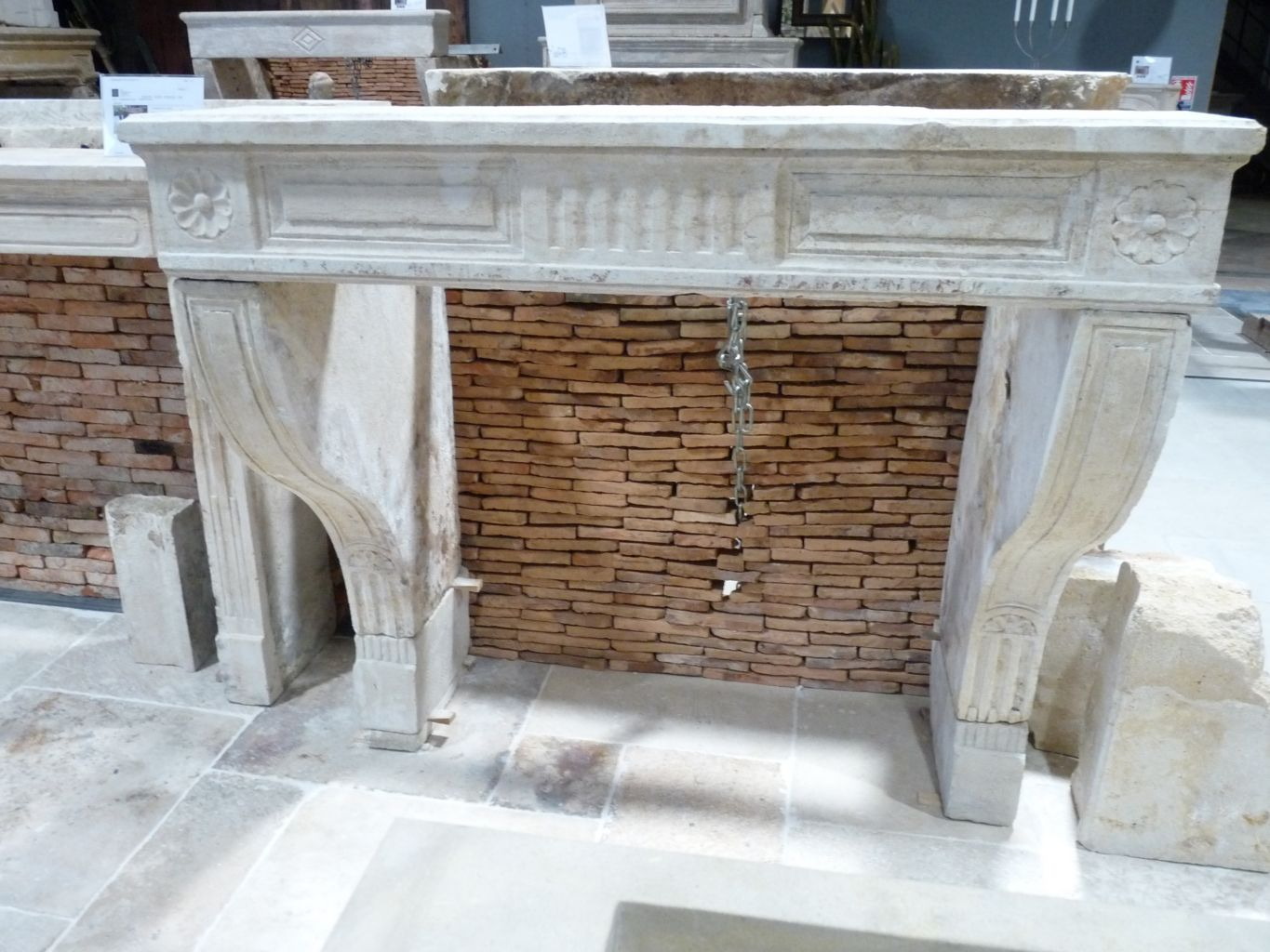 Antique Louis Xiv Fireplace In French Limestone 17th Century