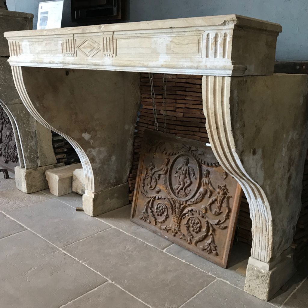 Antique French Louis Xiii Style Fireplace Bca Antique