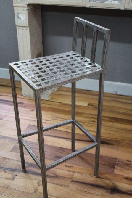 Chaise haute de bar en fer hauteur chaise 95 cm - Chaise de bar haute ...