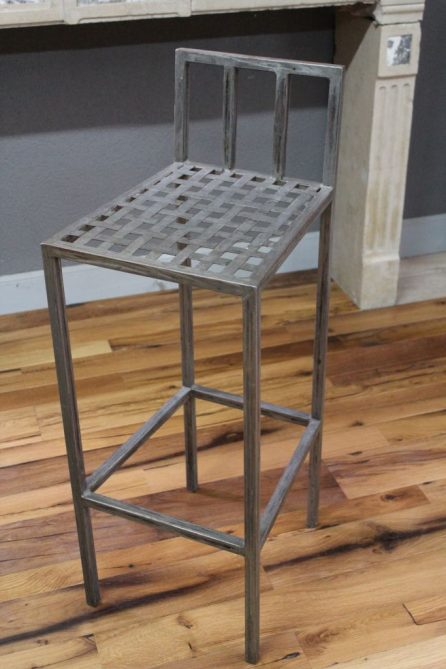 Chaise haute de bar en fer hauteur chaise 95 cm for Chaise haute bar
