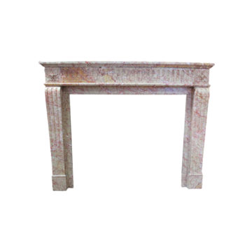antique marble fireplace pink color