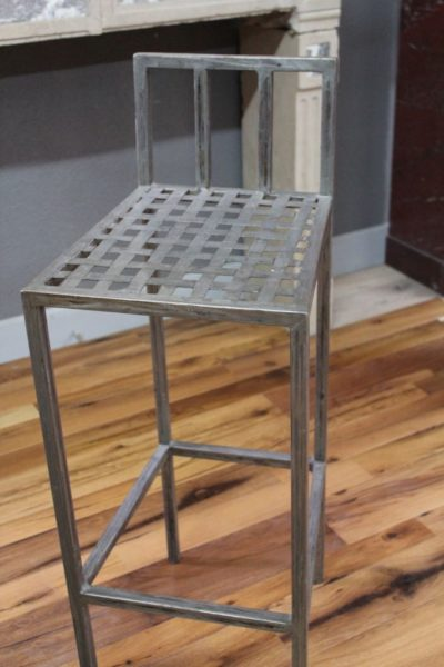 metal bar chair in our showroom