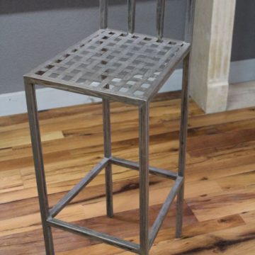 High metal bar chair