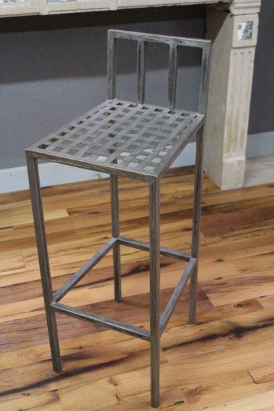 High metal bar chair