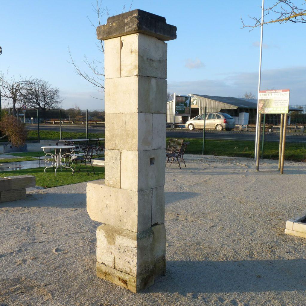 Antique French Limstone Gateway Pilars Bca Antique Materials