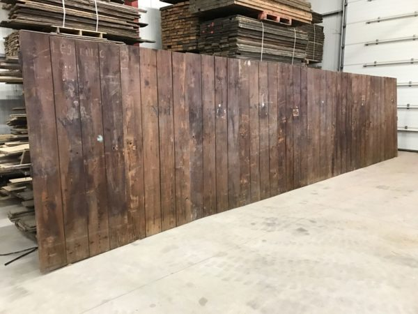 wooden wall with doors