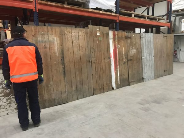 wooden walls antique reclaimed doors