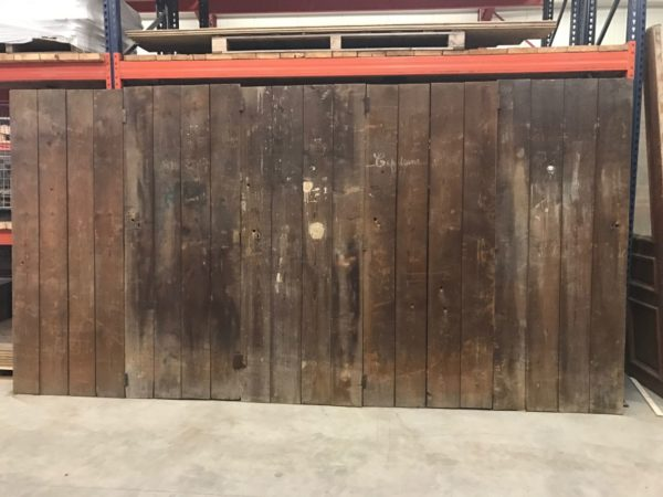 wooden walls with reclaimed doors