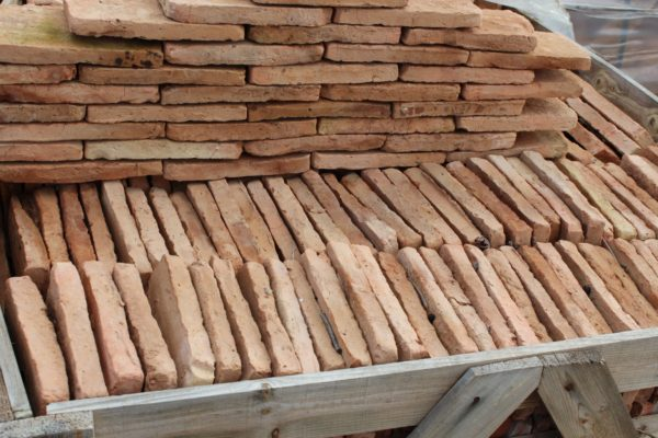 antique reclaimed thin bricks