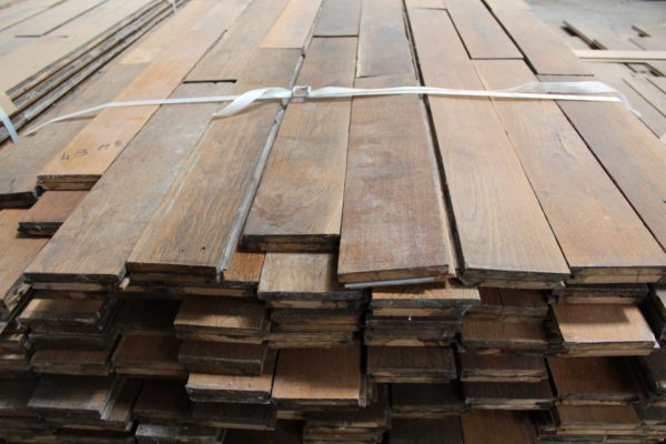 Authentic antique 19th century French oak parquet flooring