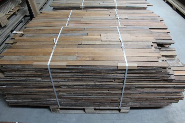 Reclaimed Haussmann-era French oak parquet