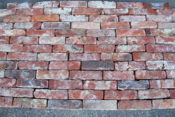 Salvaged red bricks from France