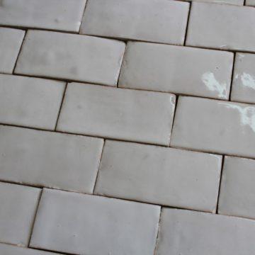 White glazed terra cotta tiles