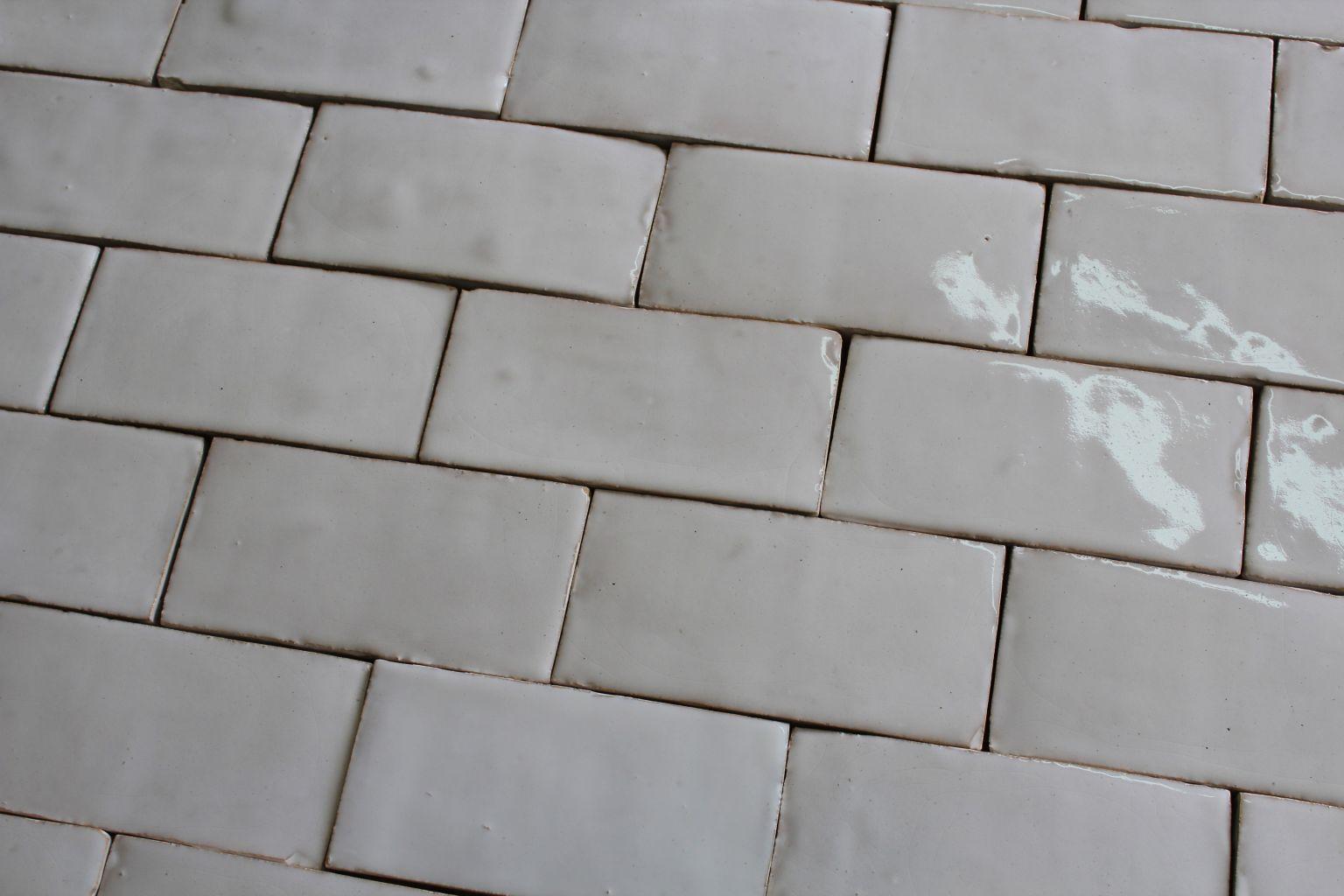 Hand-made white glazed Terra cotta Tiles | BCA Antique Materials