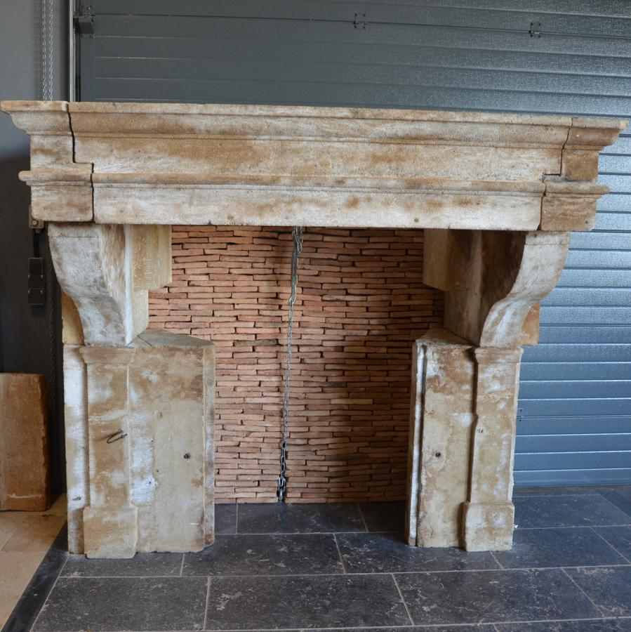 French chateau kitchen fireplace bca antique materials for Fireplace material options