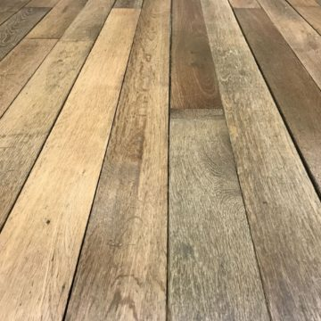 Reclaimed French oak parquet flooring