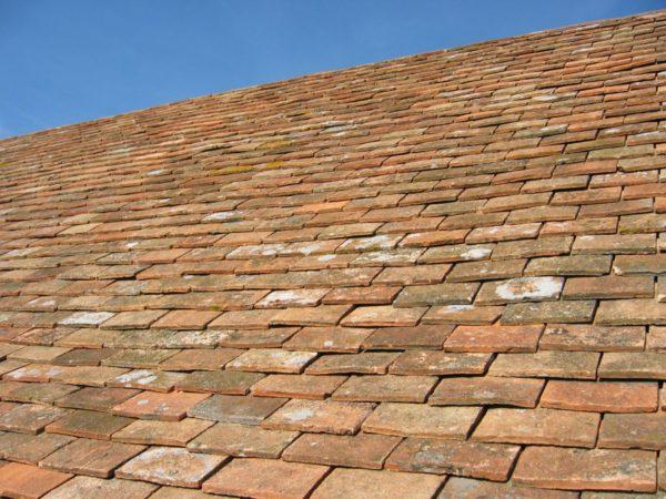reclaimed terracotta roof tiles