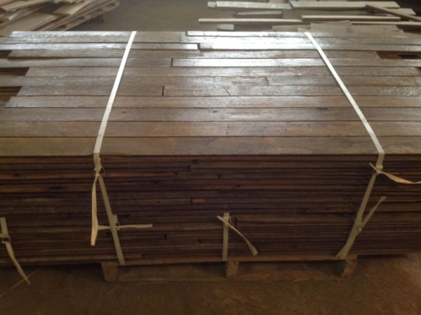 salvaged oak parquet from france