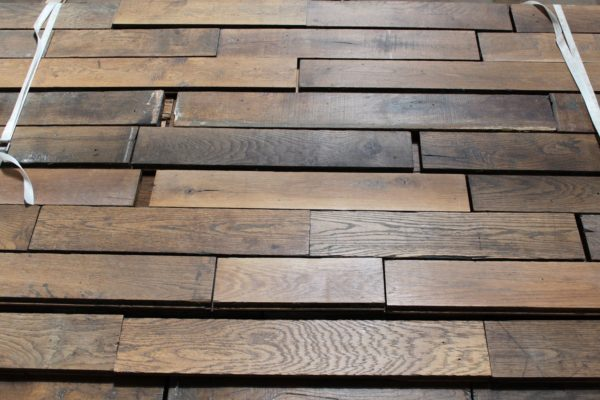 salvaged parquet flooring