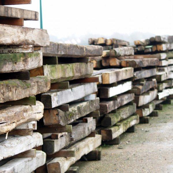 Antique oak beams