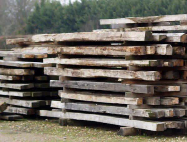 Reclaimed oak joists