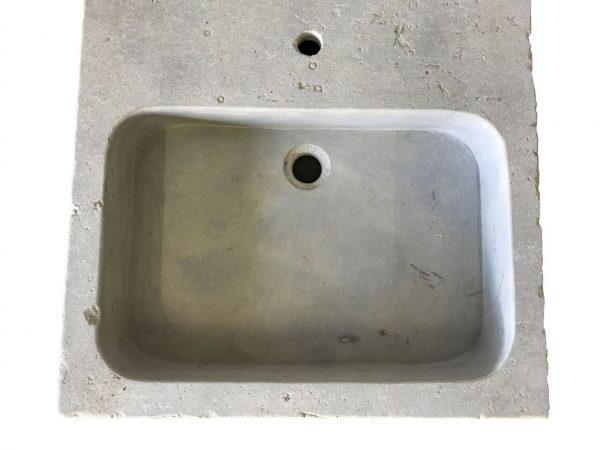 évier en pierre naturelle gris, vasque