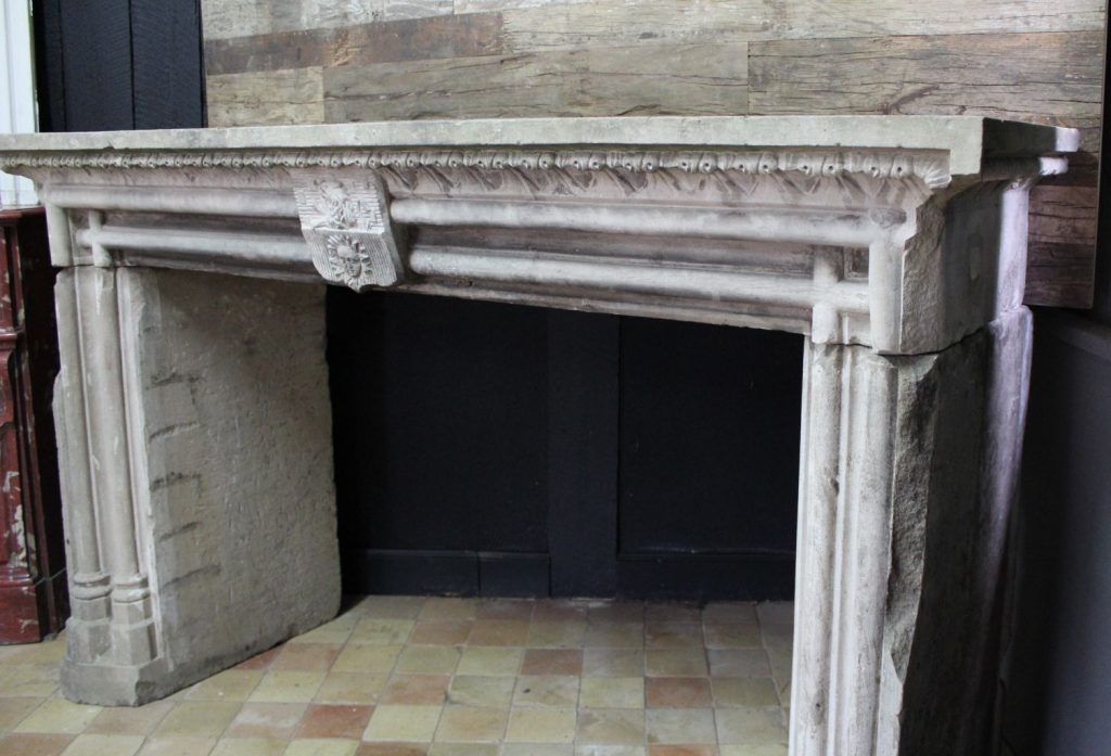 Gothic Revival Stone Fireplace 19th Century Bca