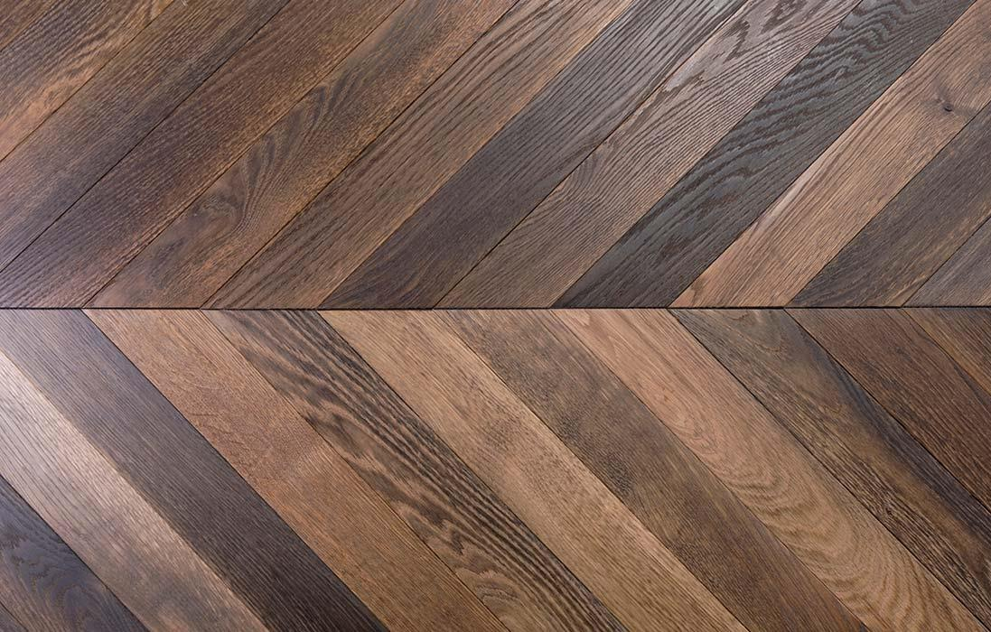 new oak chevron parquet flooring bca mat riaux anciens. Black Bedroom Furniture Sets. Home Design Ideas