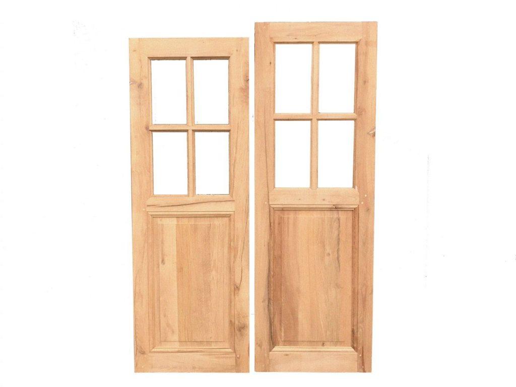 Porte int rieure bois ancienne porte ancienne sur mesure for Porte interieure vitree ancienne