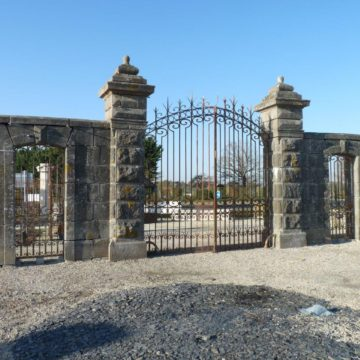 Monumental 19th century granite entrance gateways