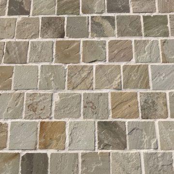 beige sandstone pavers