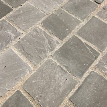 khandla sandstone pavers in a grey color