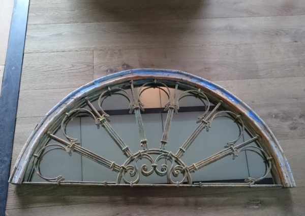Antique fan-light with mirror